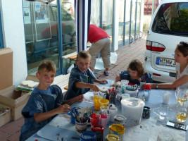 Die kleinen Künstler am Werk