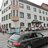 Eine friedliche Demonstration für die Demokratie